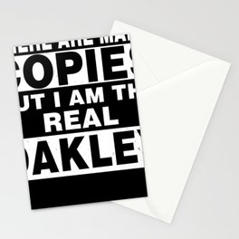I Am Oakley Funny Personal Personalized Gift Stationery Cards