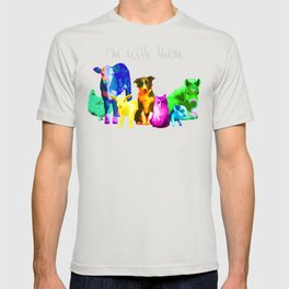 I'm With Them - Animal Rights - Vegan T-shirt
