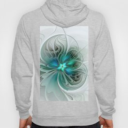 Abstract With Blue, Fractal Art Hoody