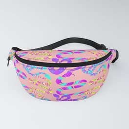 Neon Snakes on Pink Fanny Pack