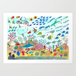 Colorful Fish Tank Art Print