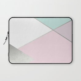 Geometrics - mint sorbet & silver Laptop Sleeve