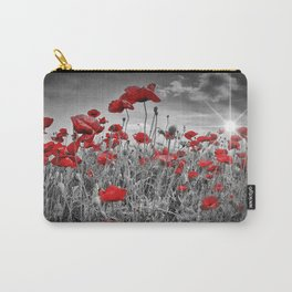 Idyllic Field of Poppies with Sun Carry-All Pouch