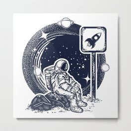 Astronaut in space Metal Print