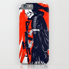 Military skeleton - grim soldier - gothic reaper iPhone Case