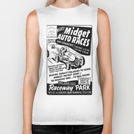 Midget Auto Races, Race poster, vintage poster, bw Biker Tank