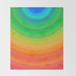 Rainbow Smile Colored Circles Summer Pattern Throw Blanket