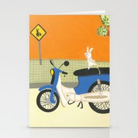 motorbike Stationery Cards featuring motorbike by Valeria Cis