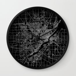Toledo map ohio Wall Clock
