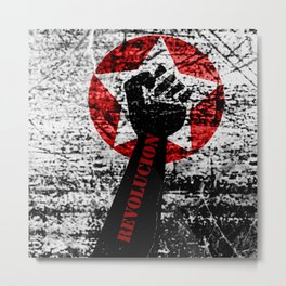 Start Revolution Metal Print