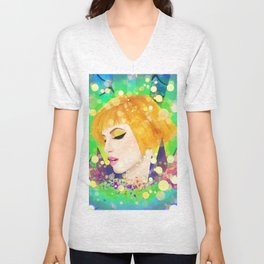 Digital Painting - Hayley Williams - Variation Unisex V-Neck