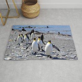 King Penguins on the Beach Rug