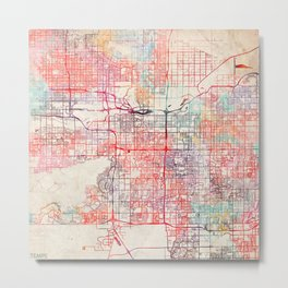 Tempe map Arizona painting Metal Print