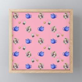 Tea Lovers Pink Framed Mini Art Print