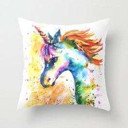 Unicorn Splash Throw Pillow