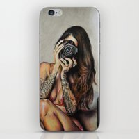 hello beautiful iPhone & iPod Skins featuring Hello Beautiful by Kim Morrow