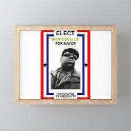Biggie Smalls for Mayor Framed Mini Art Print