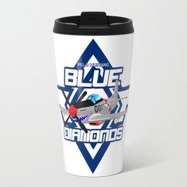 P15-D Mustang Blue Diamonds Travel Mug