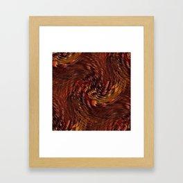 Mixing Copper Metallic Framed Art Print