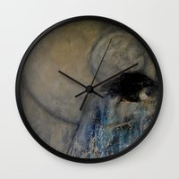 imagerybydianna Wall Clocks featuring dreaming in tennyson's tower by Imagery by dianna