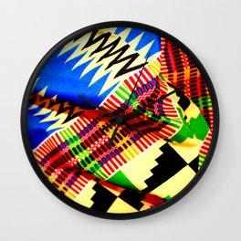 Folded Kente 1 Wall Clock