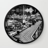 oslo Wall Clocks featuring Oslo Wharf by Vengeance, Madame.