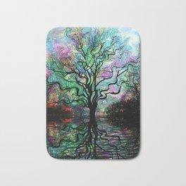 Van Goghs Aurora Borealis Reflection Bath Mat