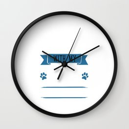 I Workout to Keep Up with My Boston Terrier T-Shirt Wall Clock