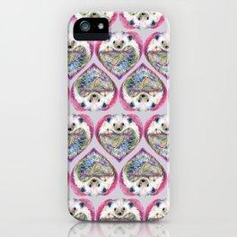 Hedgehog Heart Pattern iPhone Case