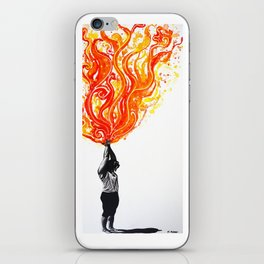 The Mountain (Tadasana) iPhone Skin