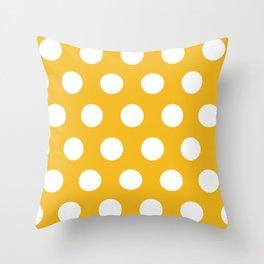 Spotty Mustard Throw Pillow