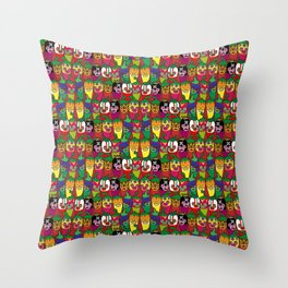 Red Hot Chili Pattern 02 Throw Pillow