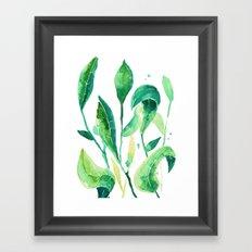 new water color leaves Framed Art Print