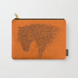 Horsey Orange Carry-All Pouch