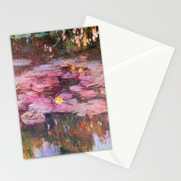 Water Lilies Monet 1917 Stationery Cards