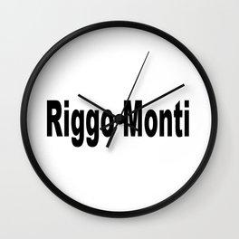 Riggo Monti Design #5 - Riggo Monti (Simple Text) Wall Clock
