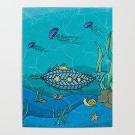 Nautilus under the sea Poster