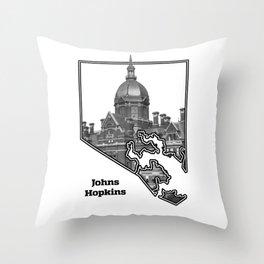 Hopkins White Throw Pillow