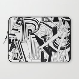 History of Art in Black and White. Conceptualism Laptop Sleeve