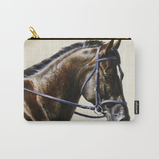 Dark Bay Dressage Horse Portrait Carry-All Pouch