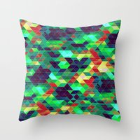 science Throw Pillows featuring Science by KRArtwork