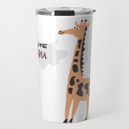 Love Giraffe Travel Mug