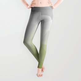 light green and grey polygon Leggings