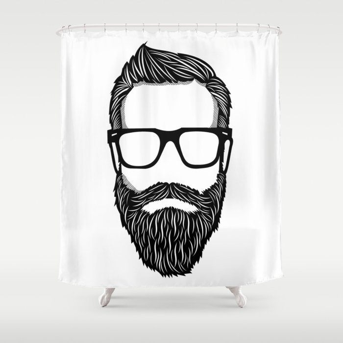 Hipster Shower Curtain By T Vintage