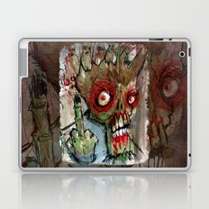 zombie flips the bird Laptop & iPad Skin