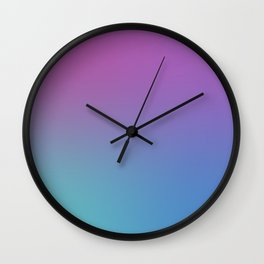SUPERSTITION FUTURE - Minimal Plain Soft Mood Color Blend Prints Wall Clock