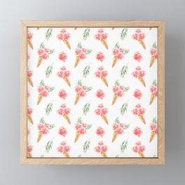 Floral Chill Rose Framed Mini Art Print