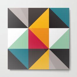 Geometric Pattern #30 (triangles) Metal Print