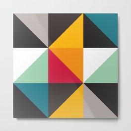Geometric Pattern 30 (triangles) Metal Print