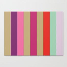 EPHEMERAL : (E)cru (P)urple (H)ot Pink (E)cru (M)agenta (E)cru (R)ed (A)quamarine (L)avender.  Canvas Print